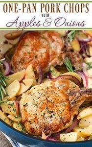 One Pan Pork Chops with Apples and - 180 Pork Recipes