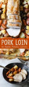 Pork Loin with Apples, Potatoes, a - 180 Pork Recipes