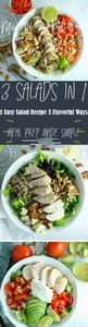 This 1 easy salad 3 flavorful ways -245 Salad Recipes - RecipePin.com