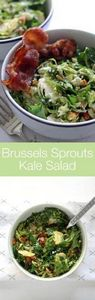 Brussels sprouts kale salad with b -245 Salad Recipes - RecipePin.com