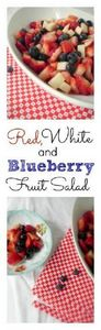 Red, White and Blueberry Fruit Sal -245 Salad Recipes - RecipePin.com