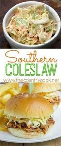 Southern Coleslaw recipe from The  -245 Salad Recipes - RecipePin.com