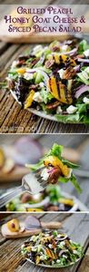 Grilled Peach, Honey Goat Cheese & -245 Salad Recipes - RecipePin.com