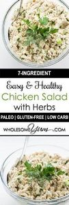 Easy Chicken Salad with Herbs (Pal -245 Salad Recipes - RecipePin.com