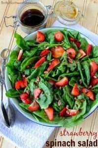 Strawberry Spinach salad is an eas -245 Salad Recipes - RecipePin.com