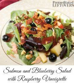 Salmon and Blueberry Salad with Ra -245 Salad Recipes - RecipePin.com