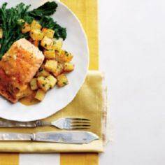 Salmon and Crispy Potatoes with Or - 185 Salmon Recipes - RecipePin.com
