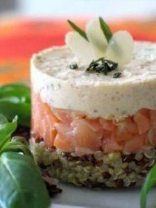 Quinoa au saumon fumé et mousse d  - 185 Salmon Recipes - RecipePin.com