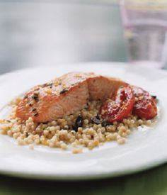 WILD SALMON WITH PEARL COUSCOUS ,  - 185 Salmon Recipes - RecipePin.com