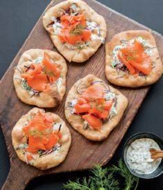 Smoked Salmon Pizzette - 185 Salmon Recipes - RecipePin.com