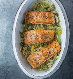 Salmon with Leeks, Fennel and Lemo - 185 Salmon Recipes - RecipePin.com