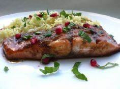 Salmon with Pomegranate Molasses G - 185 Salmon Recipes - RecipePin.com