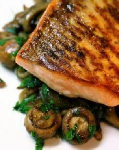 Pan-Roasted Salmon With Wild Mushr - 185 Salmon Recipes - RecipePin.com