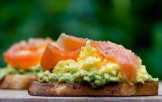 Open Face Sandwich -  Avocado, Egg - 185 Salmon Recipes - RecipePin.com