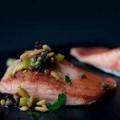 Bridget Jones' grilled salmon with - 185 Salmon Recipes - RecipePin.com