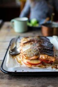 Apple and Fennel Stuffed Salmon wi - 185 Salmon Recipes - RecipePin.com