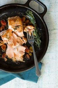 Cast Iron Skillet Seared Salmon |  - 185 Salmon Recipes - RecipePin.com