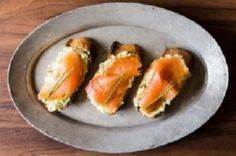 Smoked Salmon on Mustard-Chive and - 185 Salmon Recipes - RecipePin.com