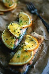 Salmon with orange and thyme / by  - 185 Salmon Recipes - RecipePin.com