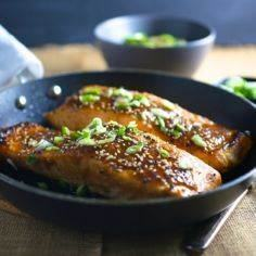 Miso Glazed Crispy-Skinned Salmon - 185 Salmon Recipes - RecipePin.com