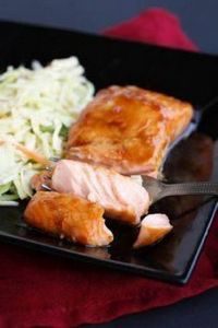 Ponzu Glazed Salmon with Miso Slaw - 185 Salmon Recipes - RecipePin.com