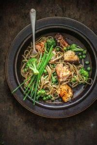 Sticky Asian Salmon with Soba Nood - 185 Salmon Recipes - RecipePin.com