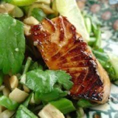 Honey-Seared Salmon and Cilantro N - 185 Salmon Recipes - RecipePin.com