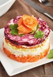 Salmon Salad Cake Recipe - this sa - 185 Salmon Recipes - RecipePin.com