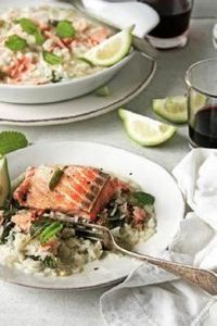 salmon and lemon balm rice - 185 Salmon Recipes - RecipePin.com