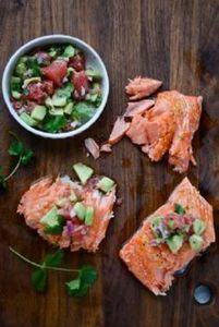 slow roasted salmon with grapefrui - 185 Salmon Recipes - RecipePin.com