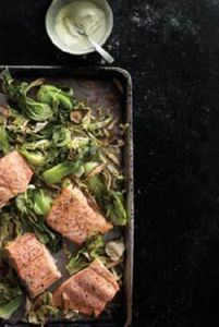 Wasabi salmon with bok choy, cabba - 185 Salmon Recipes - RecipePin.com
