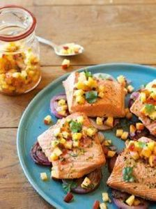 Grilled Salmon and Red Onions with - 185 Salmon Recipes - RecipePin.com