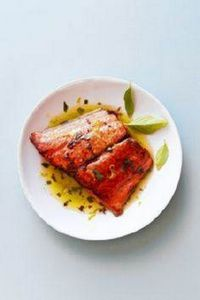 Pan-Seared Marinated Salmon with B - 185 Salmon Recipes - RecipePin.com