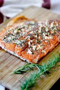 ROSEMARY & garlic roasted salm - 185 Salmon Recipes - RecipePin.com