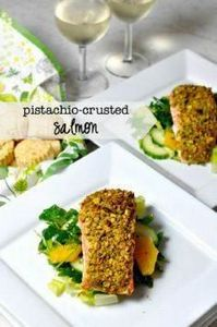 Pistachio-Crusted Salmon |www.flav - 185 Salmon Recipes - RecipePin.com