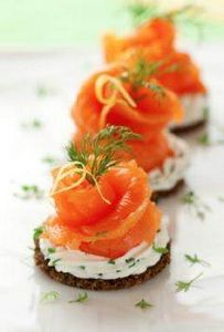 Smoke salmon and cream cheese hors - 185 Salmon Recipes - RecipePin.com