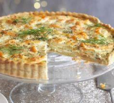 This delicious smoked salmon tart  - 185 Salmon Recipes - RecipePin.com