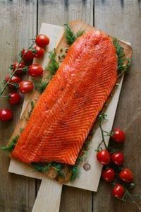 Copper river salmon on cedar with  - 185 Salmon Recipes - RecipePin.com