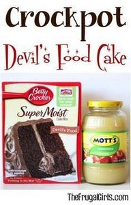 Crockpot Devi's Food Cake! ~ from  - 135 Slow Cooker Dessert Recipes - RecipePin.com