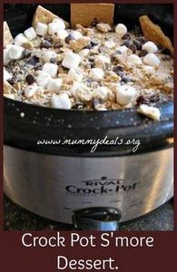 Crock Pot S'mores Cake   from @Cla - 135 Slow Cooker Dessert Recipes - RecipePin.com