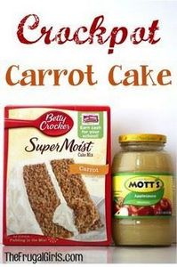 Crockpot Carrot Cake Recipe at The - 135 Slow Cooker Dessert Recipes - RecipePin.com