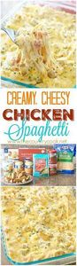 Creamy, Cheesy Chicken Spaghetti r - 275 Spaghetti Squash Recipes - RecipePin.com