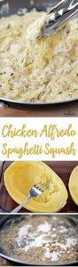 This Chicken Alfredo Spaghetti Squ - 275 Spaghetti Squash Recipes - RecipePin.com