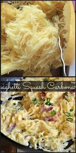 Spaghetti Squash Carbonara-I made  - 275 Spaghetti Squash Recipes - RecipePin.com