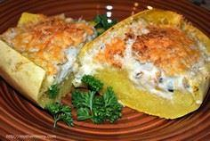 Easy Cheesy Spaghetti Squash Recip - 275 Spaghetti Squash Recipes - RecipePin.com