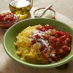 Spaghetti Squash with Veggie Sauce - 275 Spaghetti Squash Recipes - RecipePin.com