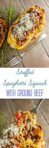 Stuffed Spaghetti Squash with Grou - 275 Spaghetti Squash Recipes - RecipePin.com