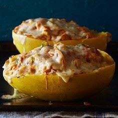 Chicken Enchilada-Stuffed Spaghett - 275 Spaghetti Squash Recipes - RecipePin.com