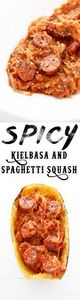 Spicy Kielbasa and Spaghetti Squas - 275 Spaghetti Squash Recipes - RecipePin.com