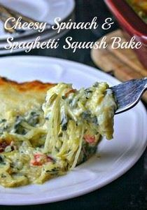 Creamy Spinach & Spaghetti Squ - 275 Spaghetti Squash Recipes - RecipePin.com